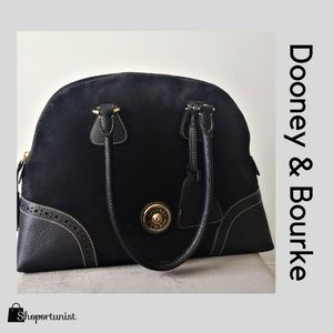 Dooney & Bourke Medium Series Black Nubuck Suede B
